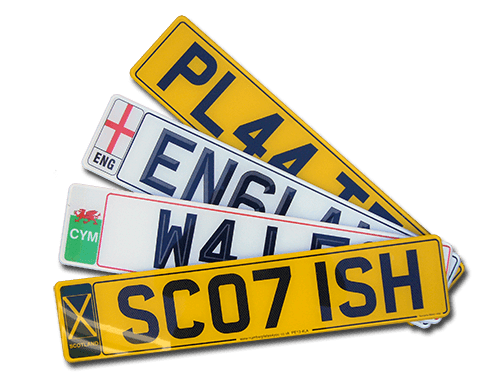 Buy your registration number plates online