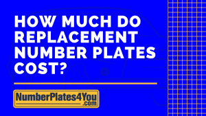 how much do replacement number plates cost
