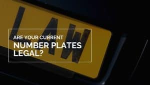 are my number plates illegal?