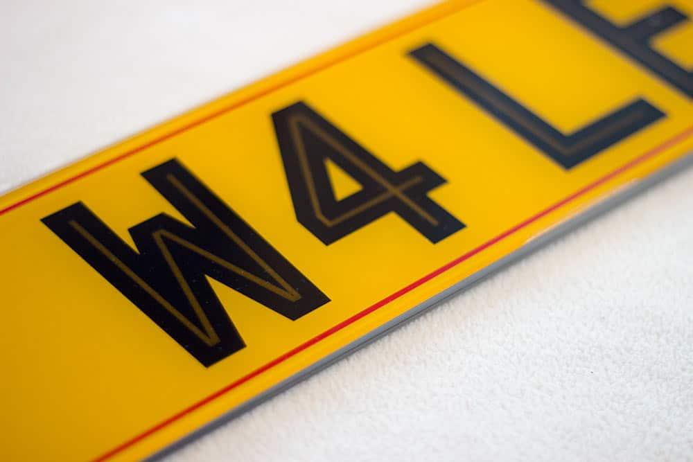 Highline Number plates