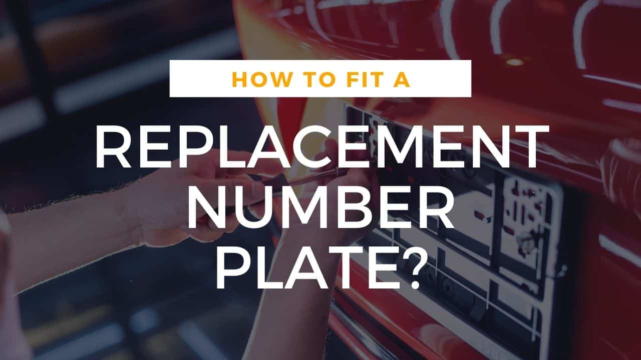 how to fit replacement number plates