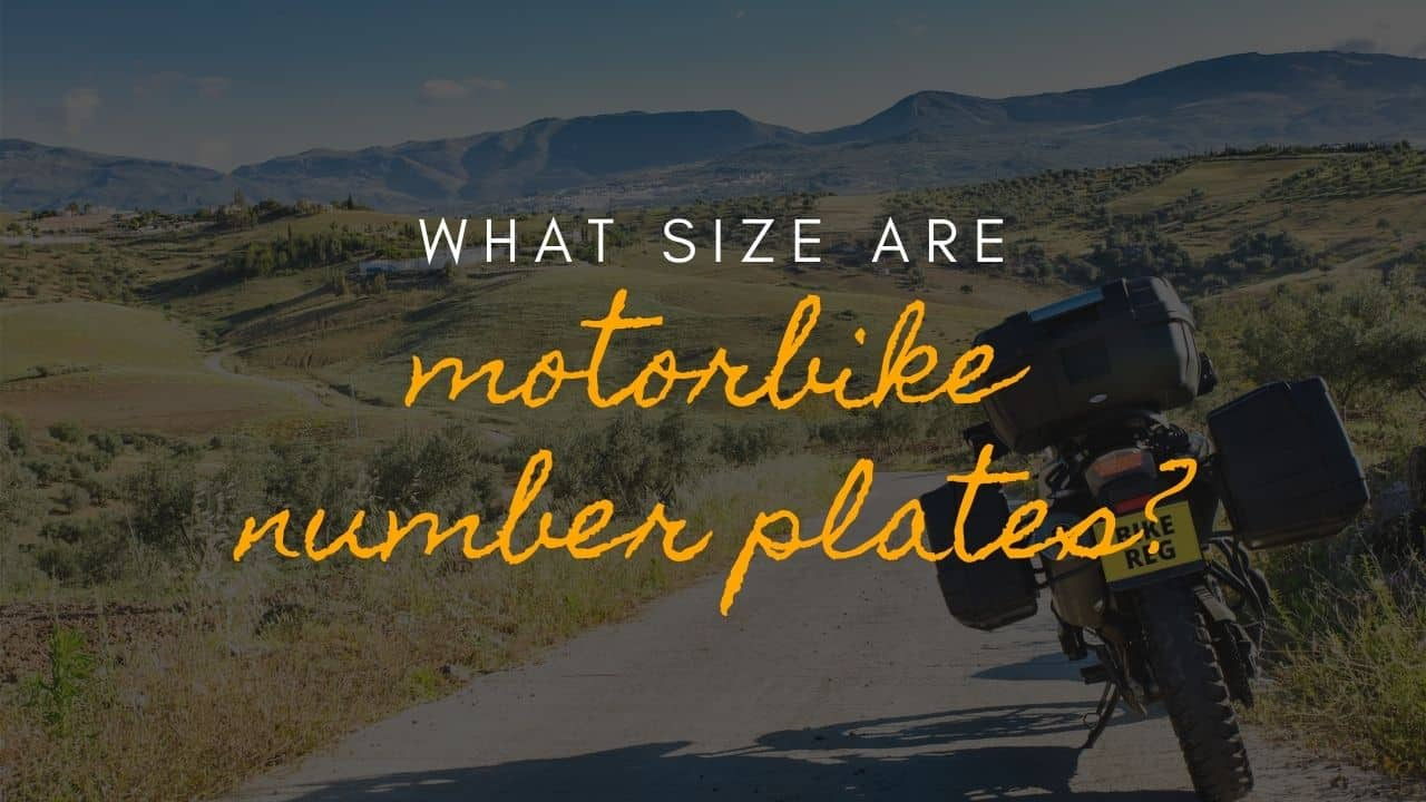 what size are motorbike number plates